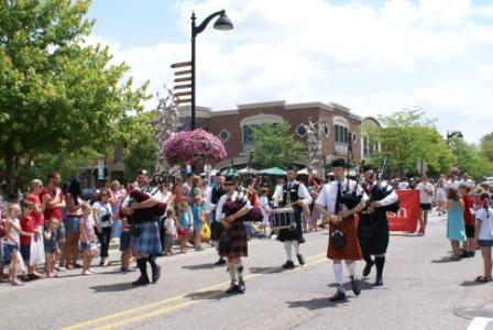 Bagpipes played during the parade.
