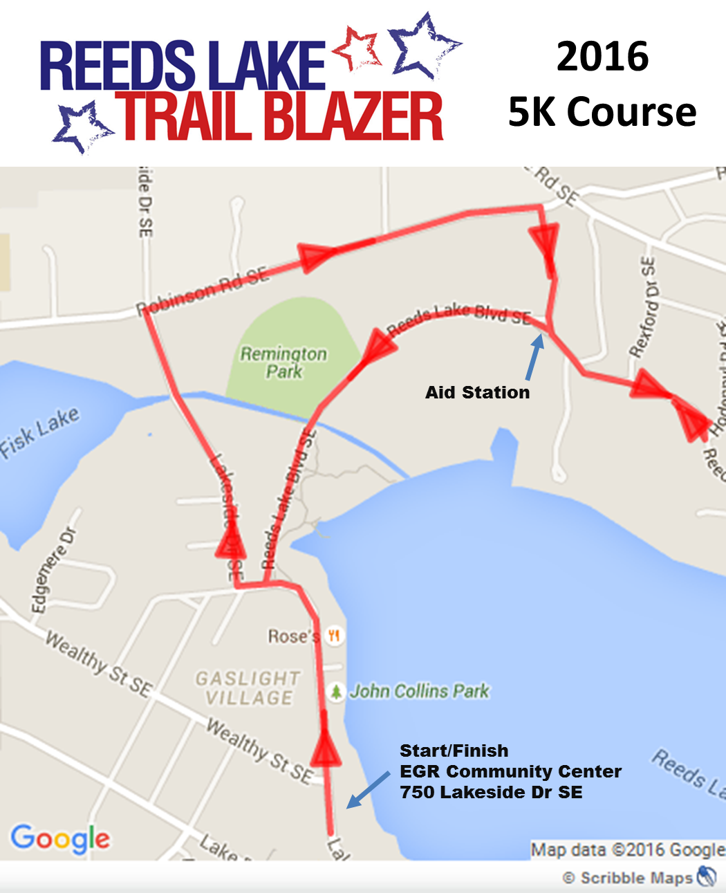 Trail Blazer Route Map